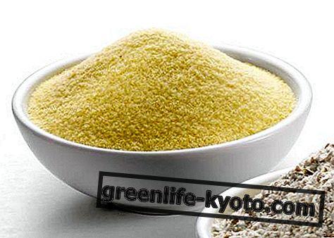 Harina de trigo duro, propiedades y uso.