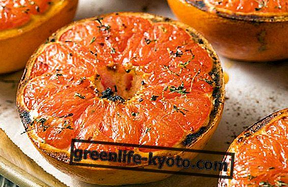 Готвене с плодове: печен розов грейпфрут