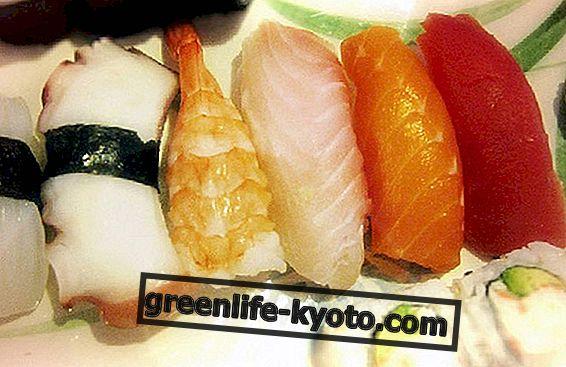 Un chapuzón en la preparación de sushi.
