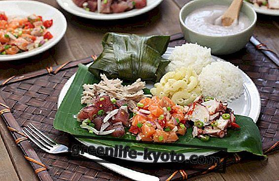 Havaijin keittiö, ominaisuudet ja tärkeimmät elintarvikkeet