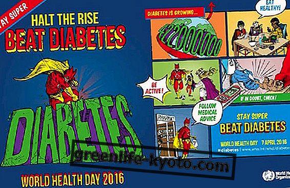 Día mundial de la salud: unidos contra la diabetes.