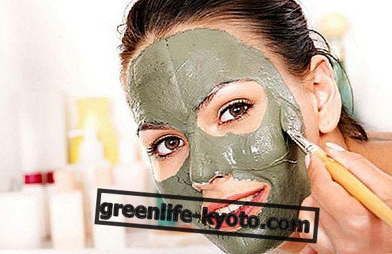 Tuuletettu vihreä savi, naamio