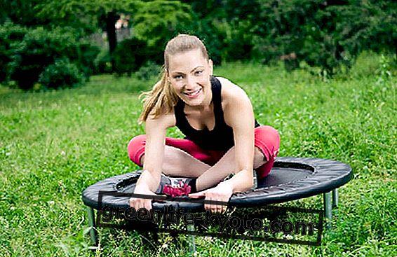 Fitness skoków: skakanie do rytmu muzyki